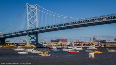 Ben Franklin Bridge During Red Bull Flugtag
