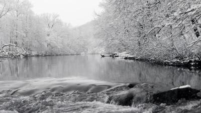 Perkiomen Creek in the Snow