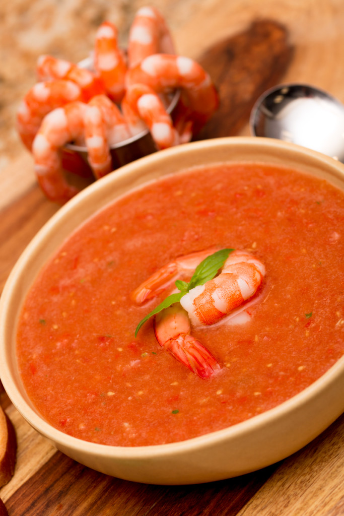 Chilled Shrimp Gazpacho Made with Swanson Broth