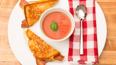 Grilled Cheese and Campbells Tomato Soup