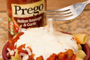 Prego Italian Sausage Garlic Cheesy Rigatoni