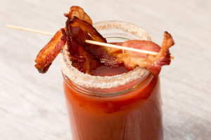 V8 Bloody Mary with Bacon