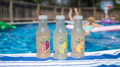 V8 Infused waters at the Pool